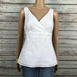 Ann Taylor LOFT Textured Empire Waist Tank Shirt